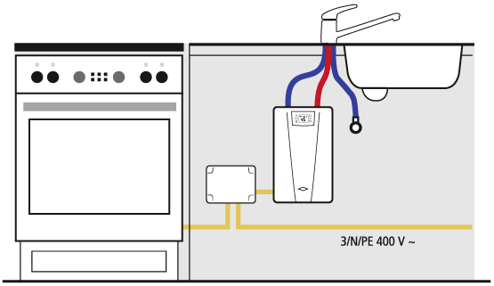 Connection principle of the load shedding relay